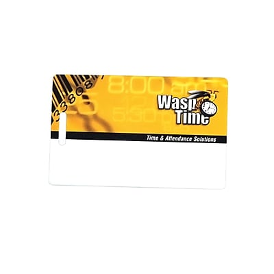 Wasp Bar Code® 633808550769 Employee ID Time Card, 50/Pack