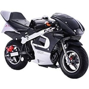 Worryfree Gadgets® Myepads 4-Stroke Gas Power Mini Pocket Motorcycle Ride-on Bike Toy, Black (BIKE-BOG02-BLACK)