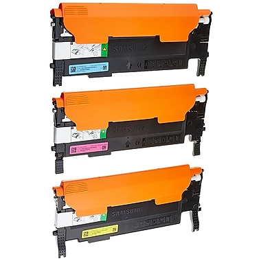 Samsung CLT-P409A Cyan, Magenta, Yellow Toner Cartridge, 3/Pack (SU393A)