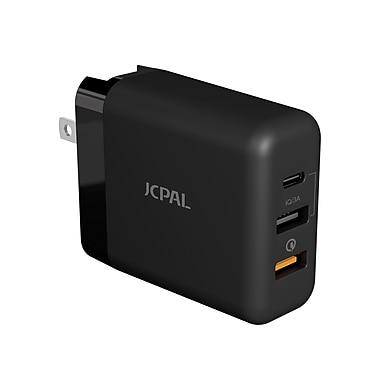 JCPal – Chargeur de voyage 3.0 à recharge rapide multiport (JCP6139)