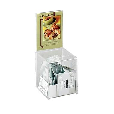 SafcoMD – Boîte à idées, 5 1/2 x 5 1/2 x 9 1/2 po, transparent, petit