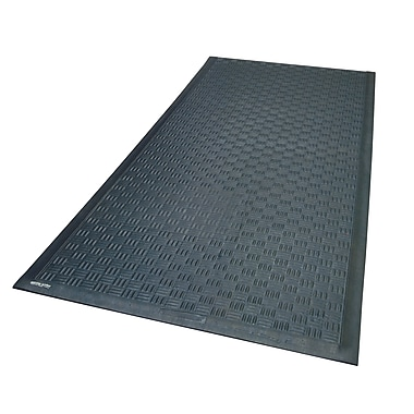 Andersen Cushion Station Nitrite Rubber Anti-Fatigue Floor Mat, 3' x 20', Black (370000320)