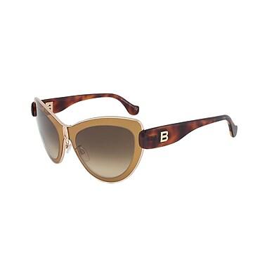 Balenciaga Women's Sunglasses, Mustard/Havana Frame, Brown Gradient Lens (BA0001-45F-56)