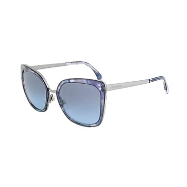 Chanel Women's Butterfly Signature Sunglasses, Multicolor Blue Frame, Blue Gradient Lens (4209-465-S2-57)