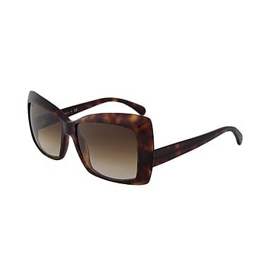 Chanel Women's Butterfly Spring Sunglasses, Dark Tortoiseshell (5366-1580-51-58)
