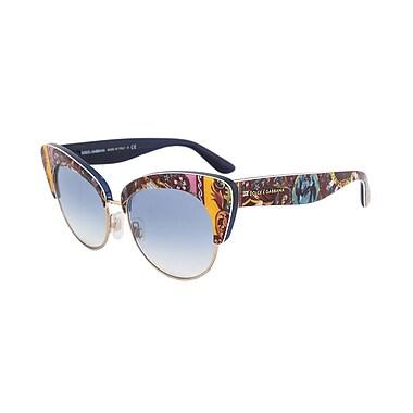 Dolce & Gabbana Women's Cat Eye Sunglasses, Motif Frame, Blue Gradient Lenses (4277-303619-52)