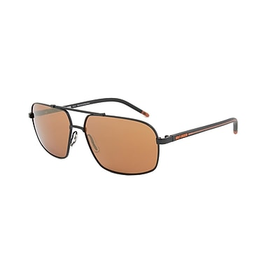 Harley-Davidson Unisex Sunglasses, Dark Gunmetal Frame, Orange Lens (HD2001-02G-60)