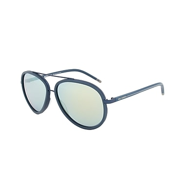 Harley-Davidson Unisex Sunglasses, Matte Blue Frame, Gold Mirror Lens (HD2016-91V-60)