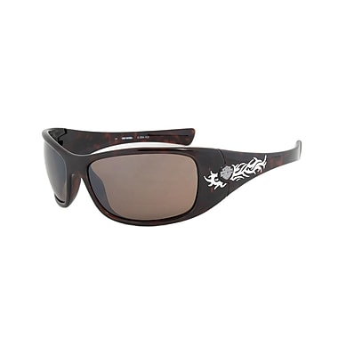 Harley-Davidson Unisex Sunglasses, Tortoise Frame, Brown Mirror Flash Lens (HDS563-TO-1F64)