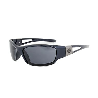 Harley-Davidson Unisex Sunglasses, Navy Frame, Grey Lens (HDS610-NV-363)