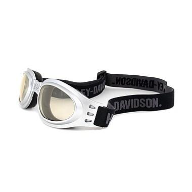 Harley-Davidson Unisex Foldable Goggle Sunglasses HDSZ 904 SI-D2N, Silver Frame, Light Green Lens (HDSZ904-SI-D2N55)