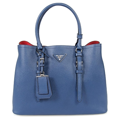 Prada Double Leather Bag Model, Inchiostro/Ink Blue (1BG838-F0021)