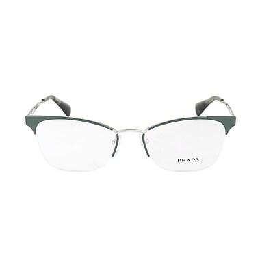 Prada Cinema Semi-Rimless Cat Eye Eyeglasses, Green and Silver Frame ...