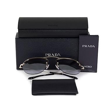 Prada Teddy Pilot Sunglasses, Gold Frame, Mauve Mirrored Gradient Lenses (58OS-ZVN2H2-55)