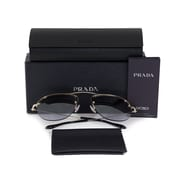 Prada Teddy Pilot Sunglasses, Gold Frame, Mauve Mirrored Gradient Lenses (58OS-ZVN2H2-55)