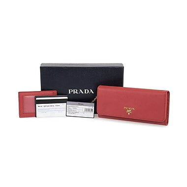 Prada Saffiano Leather Flap Wallet