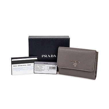 Prada Saffiano Leather Flap Wallet, Marble (MH523-QWA-F0K44)