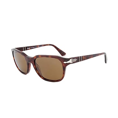 Persol Unisex Sunglasses, Havana Frame, Brown Polarized Lens (S-2457-53-POL)