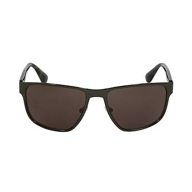 Prada Men's Wayfarer Sunglasse, Green Metal Frame, Grey Lenses (R55SS-UF44J1-55)