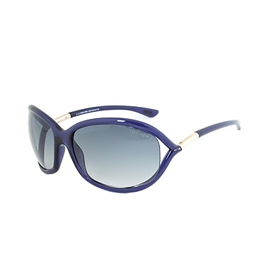 Tom Ford Women's Jennifer Sunglasses, Blue/Gold Frame, Blue Gradient Lens (FT0008-90W-61)