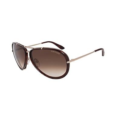 Tom Ford Unisex Cyrille Aviator Sunglasses (FT0109-28K-63)