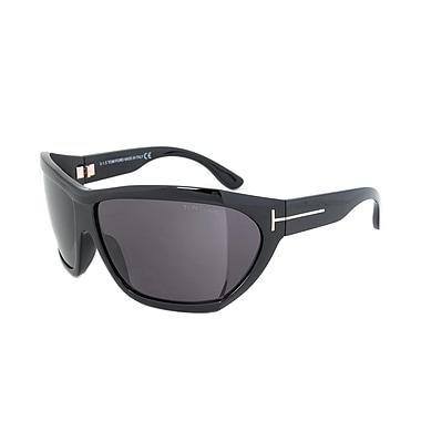 Tom Ford Unisex Sedgewick Sunglasses, Black Frame, grey Lens (FT0402-01A-62)