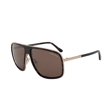 Tom Ford Unisex Quentin Pilot Sunglasses, Havana Frame, Brown Lenses (FT0463-52K-60)