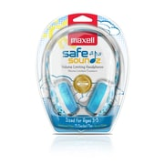 Maxell Kids Volume Limiting Headphones, Blue (SAFE2-B3)