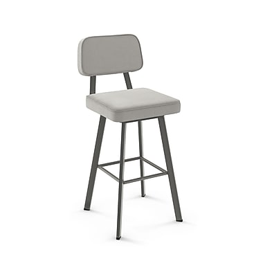 Amisco Clarkson Matt Dark Grey Metal with Pale Grey Polyester Stool (4154626/57BA)