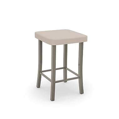 Amisco Ryan Matt Light Grey Metal with Beige PU Stool (4003424/56DB)