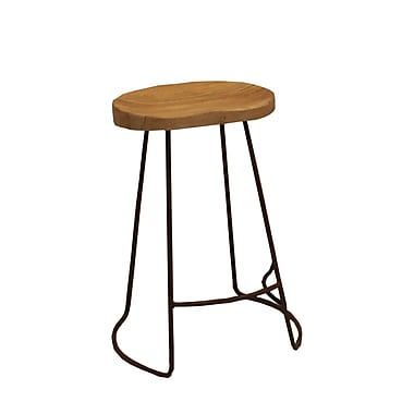 The Urban Port Wooden Barstool, Black (UPT-37910)