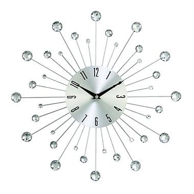 Benzara Wall Clock, Silver & Black (85516)
