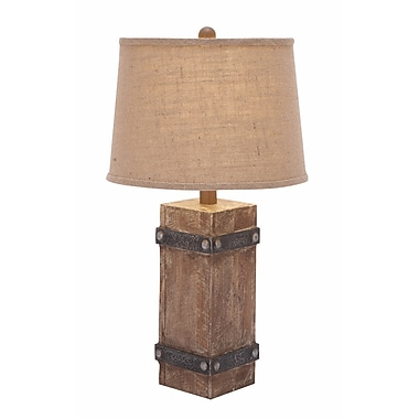 Benzara Table Lamp, Brown & Beige (85985)