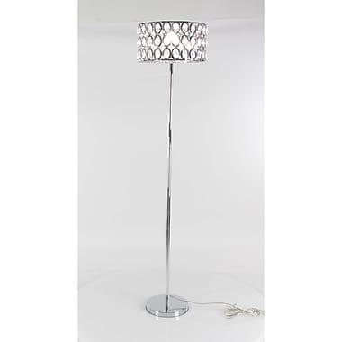 Benzara Glass Floor Lamp, Silver (BM119241)