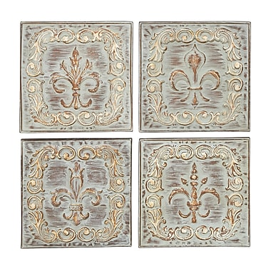 Benzara Metal Wall Decor, Multicolour, 4/pack (52730)