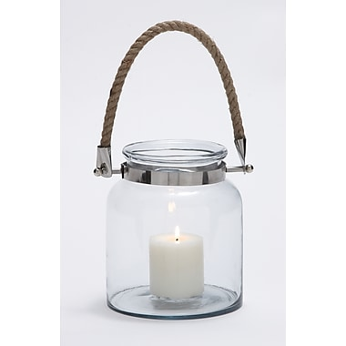 Benzara Metal Lantern, Brown & Silver (28864)