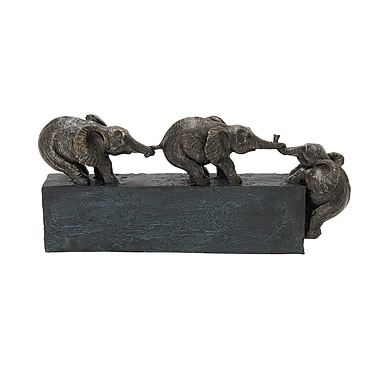 Benzara Elephant Table Decor, Grey (58320)