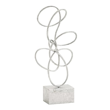 Benzara Metal Sculpture, Silver (54489)