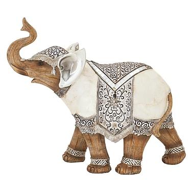 Benzara Elephant Decor, White (54947)