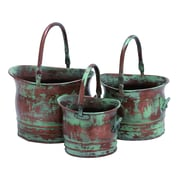 Benzara Metal Planter, Copper, 3/Pack (26909)