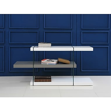 Casabianca Furniture Il Vetro High Gloss 3-Shelf Lacquer Bookcase