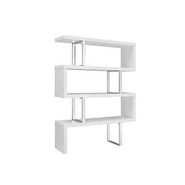 Casabianca Furniture Scala Bookcase, High Gloss White Lacquer (Tc-0074-Wh)