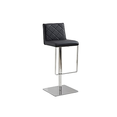 Casabianca Furniture Loft Eco-Leather with Stainless Steel Bar Stool
