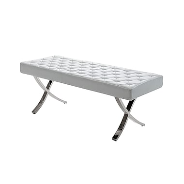 Casabianca Furniture Loft White Eco-Leather Bench (Cb-922-Wh-Bench)