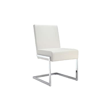 Casabianca Furniture Fontana Eco-Leather Dining Chair, White (Cb-F3131-W)