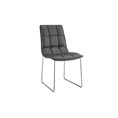 Casabianca Furniture Leandro Eco-Leather Dining Chair, Black (Cb-870-Bl)
