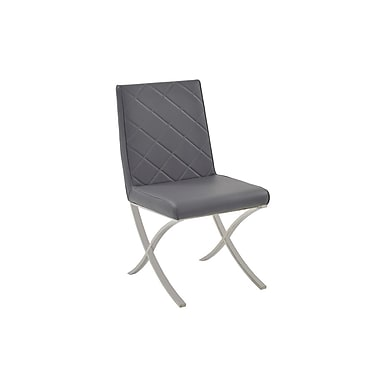 Casabianca Furniture Loft Eco-Leather Dining Chair, Dark Grey (Cb-922-G)