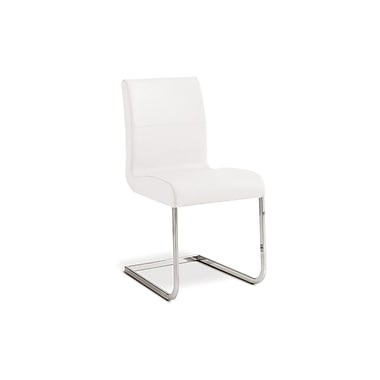 Casabianca Furniture Stella Italian Leather Dining Chair, White (Tc-2005-Wh)