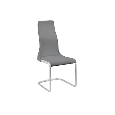 Casabianca Furniture Vero Italian Leather Dining Chair, Dark Grey (Tc-2003-Gr)