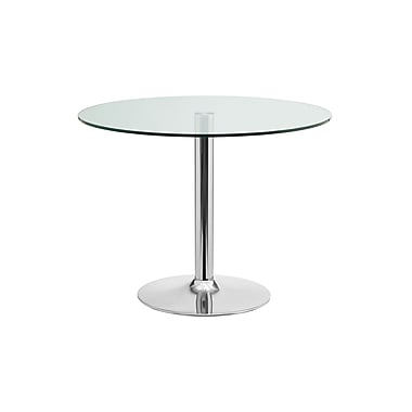 Casabianca Furniture Forte Chrome and Clear Glass Dining Table (Cb-T016)